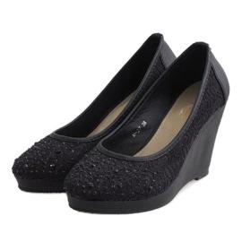 Zapatos negros con cuña M-27 3