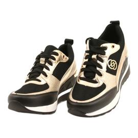Evento Zapatos deportivos con cuña para mujer 21PB35-4001 Black Gold Roxette negro dorado 2