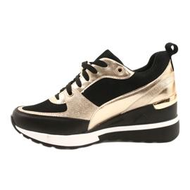 Evento Zapatos deportivos con cuña para mujer 21PB35-4001 Black Gold Roxette negro dorado 1