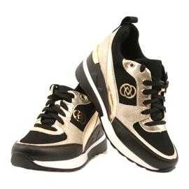 Evento Zapatos deportivos con cuña para mujer 21PB35-4001 Black Gold Roxette negro dorado 4