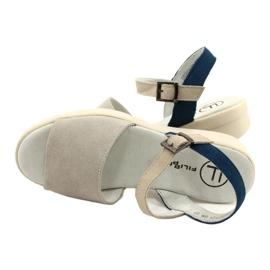 Cómodas Sandalias Piel Filippo DS2021 / 21 GR azul gris 3