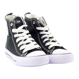 American Club High Sneakers LH02 negro 4