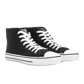 Zapatillas de hombre negras Gin tobillo negro 1