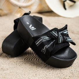 SHELOVET Zapatillas con lazo de moda negro 2