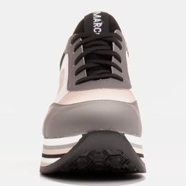 Marco Shoes Zapatillas ligeras sobre suela gruesa de piel natural gris 2