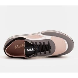 Marco Shoes Zapatillas ligeras sobre suela gruesa de piel natural gris 6