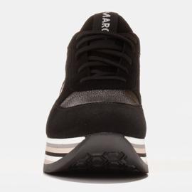 Marco Shoes Zapatillas ligeras sobre suela gruesa de piel natural negro 2