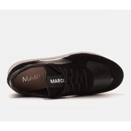 Marco Shoes Zapatillas ligeras sobre suela gruesa de piel natural negro 5