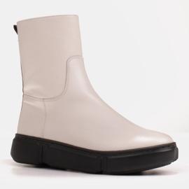 Marco Shoes Botines deportivos blancos hechos de suave piel natural 2
