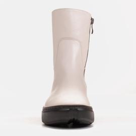 Marco Shoes Botines deportivos blancos hechos de suave piel natural 3
