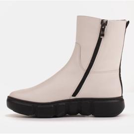 Marco Shoes Botines deportivos blancos hechos de suave piel natural 4