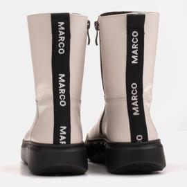 Marco Shoes Botines deportivos blancos hechos de suave piel natural 5