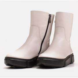 Marco Shoes Botines deportivos blancos hechos de suave piel natural 6