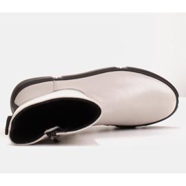 Marco Shoes Botines deportivos blancos hechos de suave piel natural 7