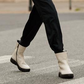 Marco Shoes Botines deportivos blancos hechos de suave piel natural 1