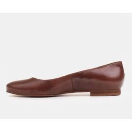 Marco Shoes Bailarinas de piel flor marrón, pulidas a mano 2