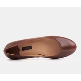 Marco Shoes Bailarinas de piel flor marrón, pulidas a mano 4