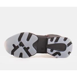 Marco Shoes Botas deportivas de mujer nobuck con inserciones rojas negro 5