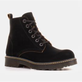 Marco Shoes Botines altos, botas atadas a suela translúcida negro 1