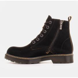 Marco Shoes Botines altos, botas atadas a suela translúcida negro 2