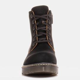 Marco Shoes Botines altos, botas atadas a suela translúcida negro 3