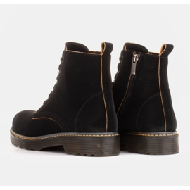 Marco Shoes Botines altos, botas atadas a suela translúcida negro 5