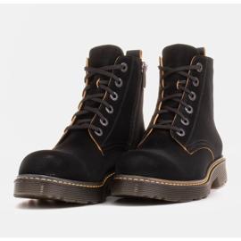 Marco Shoes Botines altos, botas atadas a suela translúcida negro 6