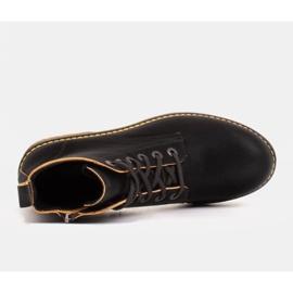 Marco Shoes Botines altos, botas atadas a suela translúcida negro 4