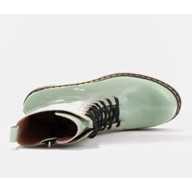 Marco Shoes Botines altos, botas atadas a suela translúcida verde 7