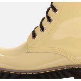 Marco Shoes Botines altos, botas atadas a suela translúcida amarillo 6