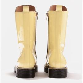 Marco Shoes Botines altos, botas atadas a suela translúcida amarillo 5