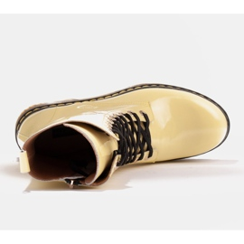 Marco Shoes Botines altos, botas atadas a suela translúcida amarillo 7