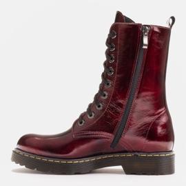 Marco Shoes Botines altos, botas atadas a suela translúcida rojo 3