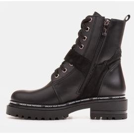 Marco Shoes Botas de mujer con un interesante y grueso fondo. negro 3