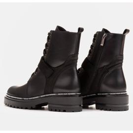 Marco Shoes Botas de mujer con un interesante y grueso fondo. negro 4