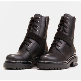 Marco Shoes Botas de mujer con un interesante y grueso fondo. negro 5