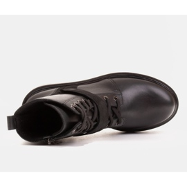 Marco Shoes Botas de mujer con un interesante y grueso fondo. negro 6
