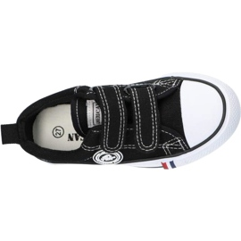 American Club Zapatillas negras American LH35 / 21 con velcro negro 2