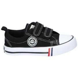 American Club Zapatillas negras American LH35 / 21 con velcro negro 3