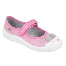 Calzado infantil befado 208X045 rosado 1