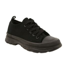 FR1 Zapatillas deportivas negras para niños Travel Time negro 1