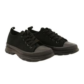 FR1 Zapatillas deportivas negras para niños Travel Time negro 5