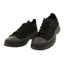 FR1 Zapatillas deportivas negras para niños Travel Time negro 2