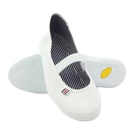Zapatillas de mujer blancas Befado 493Q003 blanco rojo multicolor 3