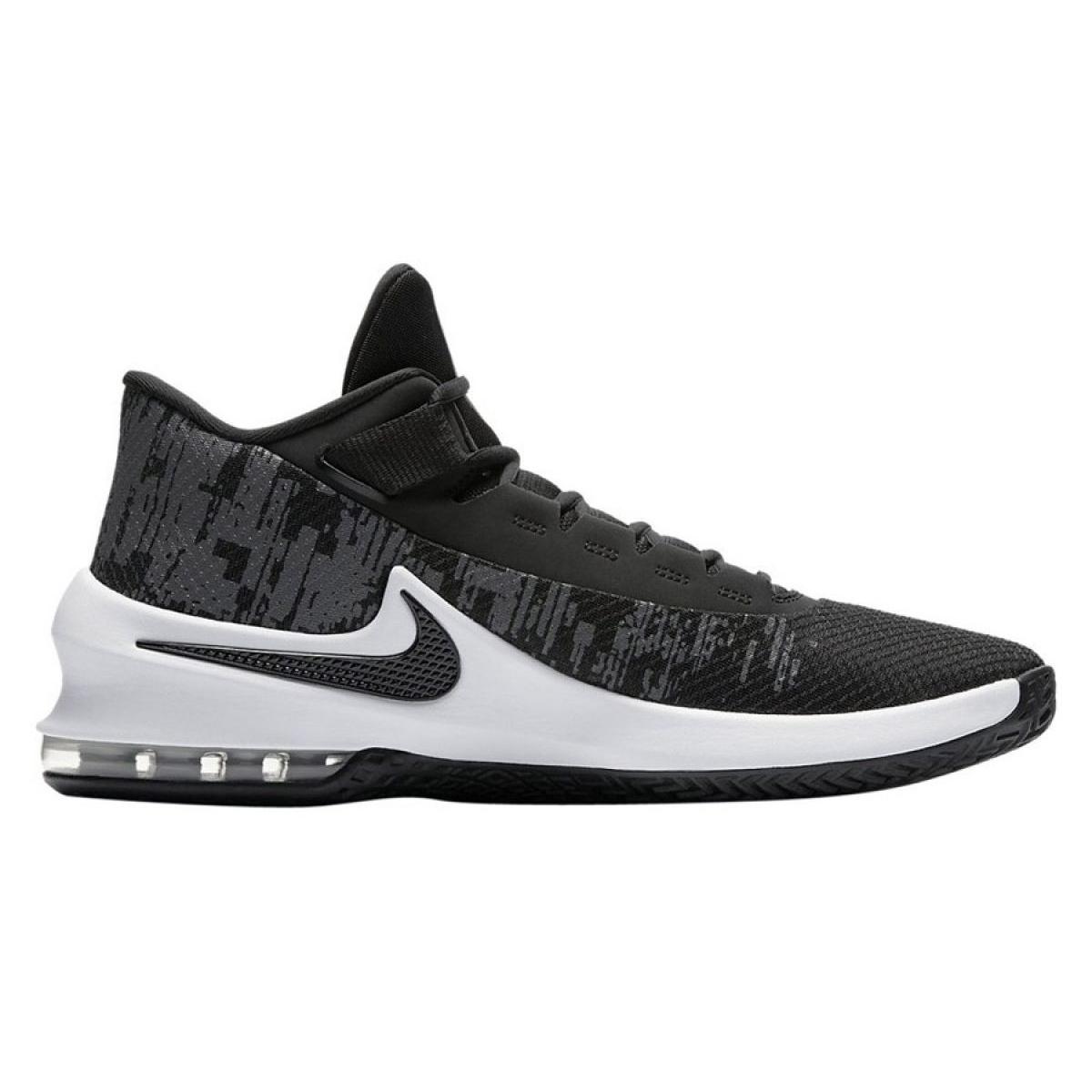 Detalles de Zapatillas de baloncesto Nike Air Max Infuriate 2 Mid M AA7066 001 negro negro