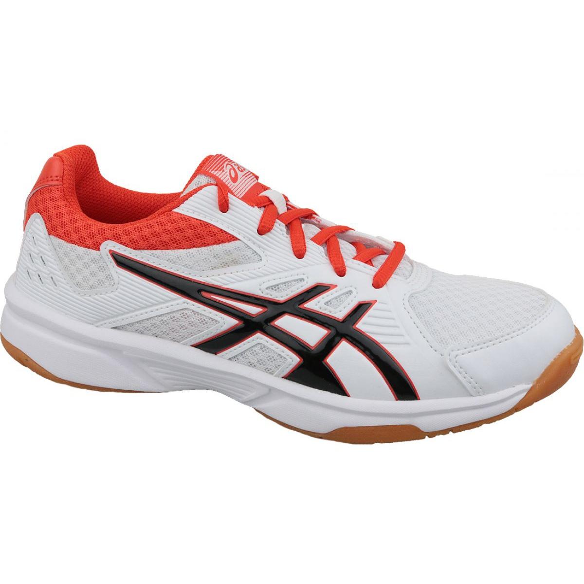 Detalles de Zapatillas de voleibol Asics Upcourt 3 M 1071A019 103 blanco blanco